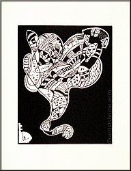 Wassily Kandinsky: Bois gravé pour le portfolio « Dix Origin » Arches