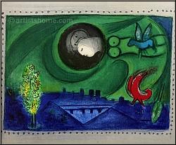 marc chagall quai de bercy 1954 paris lithographie mourlot 93 acheter des estampes. Black Bedroom Furniture Sets. Home Design Ideas