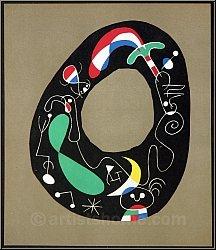 Joan Miró: La pierre magique, 1956, Lithographie originale Maeght Editeur - estampes Mourlot | ½uvre graphique