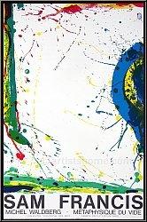 Sam Francis: Michel Waldberg - Metaphysique du vide 1986, Lithographie originale, Francis Delille - Affiches