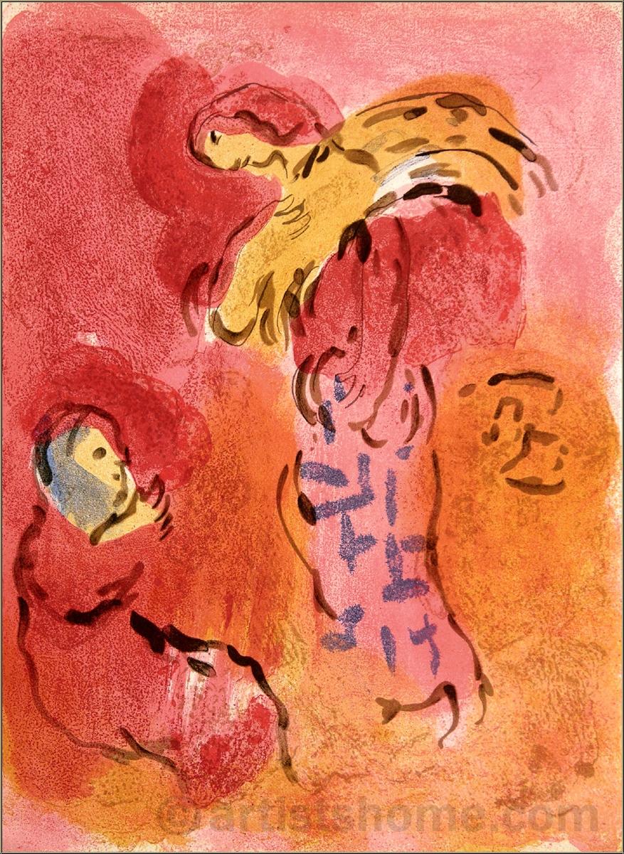 Marc Chagall: Ruth glaneuse, Lithographie, Dessins pour la ... Chagallbijbel