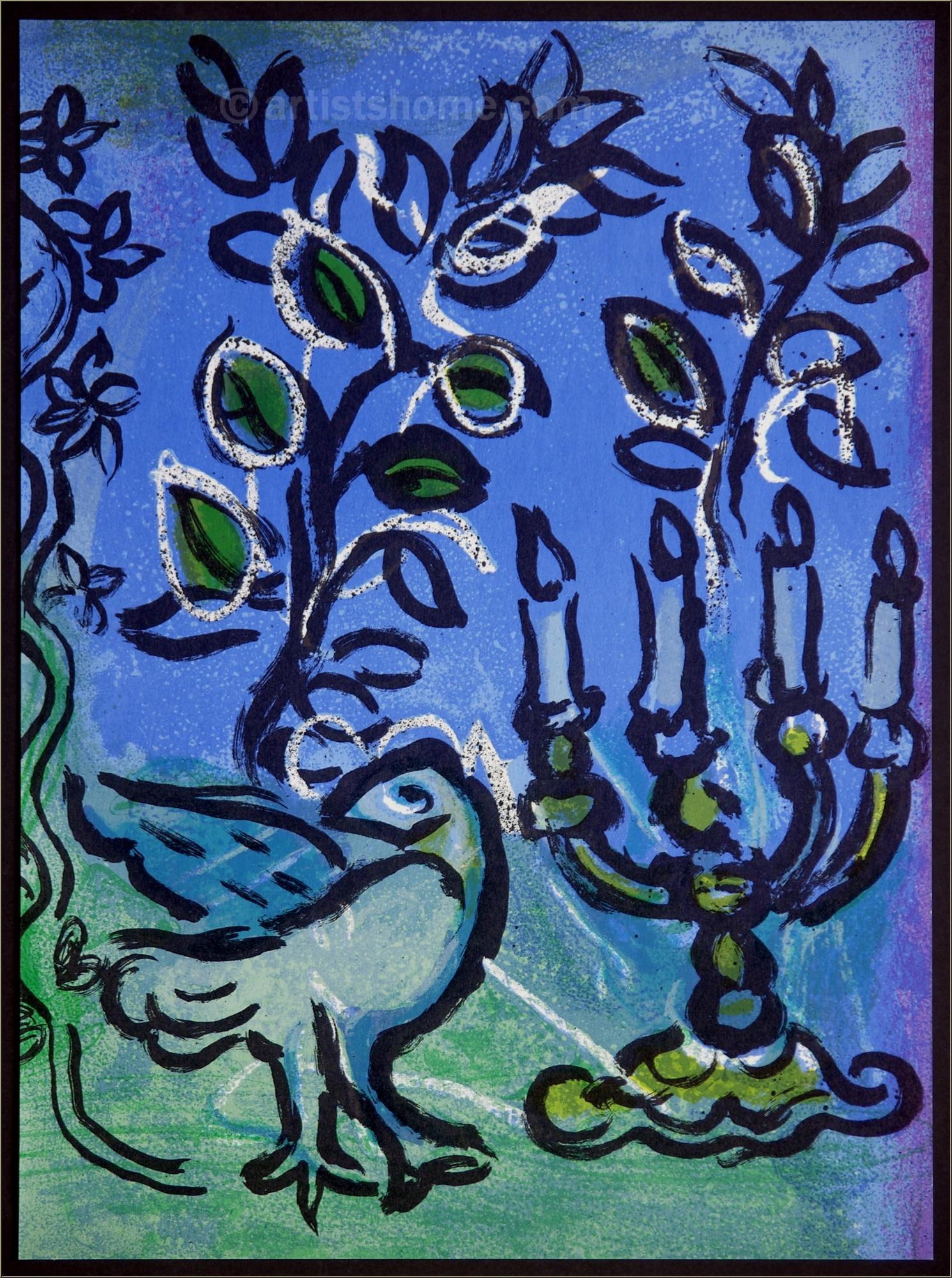 marc chagall le chandelier 1962 lithographie vitraux pour j rusalem acheter des estampes. Black Bedroom Furniture Sets. Home Design Ideas