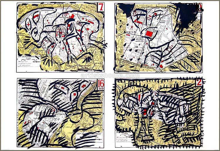 Pierre alechinsky lithographie originale paris for Alechinsky lithographie