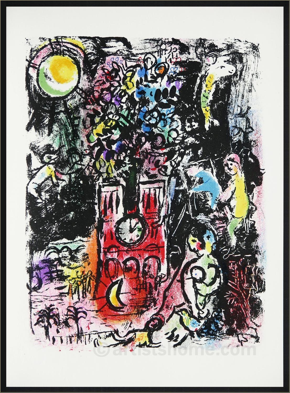marc chagall l 39 arbre de jess paris 1960 lithographie originale acheter des estampes. Black Bedroom Furniture Sets. Home Design Ideas