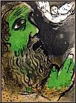 Marc Chagall: Job en prière, Dessins pour la Bible, 1960, Lithographie