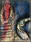 Marc Chagall: Assuerus chasse Vasthi, Lithographie originale Bible