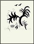 Marc Chagall: Rachel dérobe les idoles de son père, Verve Bible 1960, Lithographie originale - ½uvre graphique