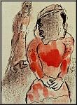 Marc Chagall: Tamar, Belle-Fille de Juda, Lithographie originale 1960
