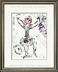 Marc Chagall: « La Jongleuse » Lithographie originale 1960, Mourlot