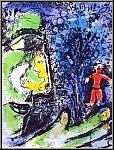 Marc Chagall: Lithographie originale Le Profil et l'Enfant rouge, 1960