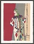 Maurice Brianchon: « L'Arlequin » Lithographie originale Mourlot, 1972