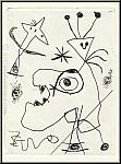 Joan Miro: « L'Aigrette » Gravure à l'eau-forte, 1956, Dupin n° 105