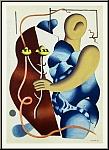 Fernand Léger: Femme tenant une fleur, 1955 - Cubisme, Lithographie