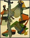 Maurice Estève: « Roussadou » Lithographie originale, Arches, Mourlot