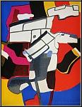 Maurice Estève: « Bougri » Lithographie originale 1974 (Mourlot)