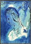 Marc Chagall: « Abraham et Sarah » Lithographie originale Verve 1956