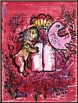 Marc Chagall: Jérusalem Vitraux, Lion, Lithographie originale 1962