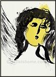 Marc Chagall: « L'ange » 1956, Lithographie originale, Verve La Bible