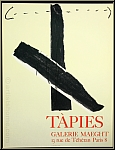 Antoni Tapies: Galerie Maeght 1967, Lithographie originale, affiche