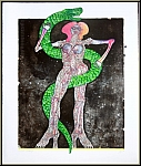 Bernhard Jaeger: « Serpent » Eve, 1973, Lithographie originale signée