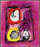 Marc Chagall: Lithographie originale « La Fenêtre » 1957, Mourlot
