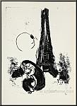 Marc Chagall: Mère et enfant à la Tour Eiffel, 1954, Lithographie
