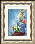 Chagall : Bouc jouant le violon pour jolie fille assise sur son épaule, idée cadeau idéale, jour du mariage