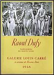 Raoul Dufy: Tapisseries 1948 Galerie Louis Carré, Lithographie Mourlot