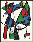 Joan Miro: Le chat coquin, 1975, Lithographie originale n° I