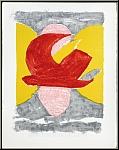 Georges Braque: Oiseau rouge, Descente aux enfers, 1961, Lithographie