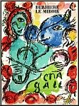 Marc Chagall: « Pantomime » 1972 violon et âne musiciens, Lithographie