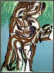 Rolf Szymanski: Lithographie originale «Spiegel III» Miroir III, 1971