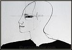 Paul Wunderlich: Profil avec Archaeopteryx, Lithographie 1994, signée