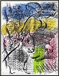 Marc Chagall: Composition pour XXe siècle 1970, Lithographie originale