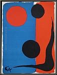 Alexander Calder: Composition, 1966, Lithographie Chiffon de Mandeure