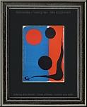 Alexander Calder: Composition sur rouge et bleu 1966, Lithographie originale pour Maeght et Redfern | Gravures