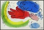 Marc Chagall: « L'écuyère » Lithographie originale 1956 Mourlot