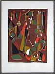 André Lanskoy: Lithographie abstraite, 1967, signée, datée et annotée