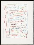 Jean Cocteau: « Manuscrit » 1960 / 1972 Lithographie originale Mourlot