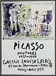Pablo Picasso: Peintures 1955-1956, Galerie Louise Leiris 1957 Affiche