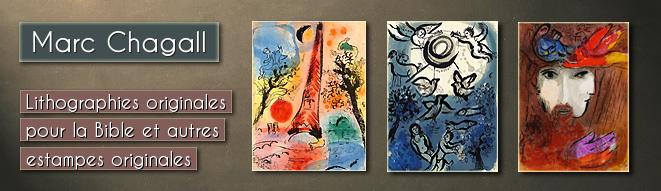 Lithographies originales par Marc Chagall: Dessins pour La Bible, Verve, Mourlot